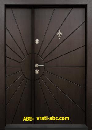 Ednokrila vhodna vrata T 109 tsvyat Tamen oreh 1